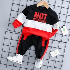 Infant Clothing 2018 Autumn Winter Baby Boys Clothes Set T-shirt+Pants Outfits Kids Clothes Baby Set Newborn Baby Clothes Winter Baby Boy, Winter Newborn, Winter Kids, Summer Baby, Toddler Boy Outfits, Kids Outfits Girls, Toddler Boys, Toddler Jeans, Baby Set