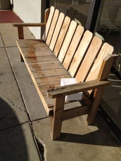 Nice bench from pallets?
