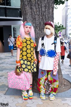 Anami and SP are two well-known - and always #colorfully dressed - personalities in the #Tokyo #street fashion scene! These looks on the street in #Harajuku feature Jeremy Scott, My Pet Monster, Cassette Playa & a ZAORICK Trolls backpack. Check all of their photos here! #tokyofashion #streetsnaps