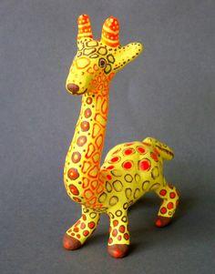 Giraffe Giraffe Sculpture Animal Sculpture by DixonArtsCrafts, $25.00