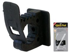 """MINI QUICK FIST (package of 4 clamps) holds objects from 1/2"""" to 1"""" (13 to 25mm) in diameter. Mounts easily with one screw or bolt or with the included Industrial Adhesive. Great for mounting fishing rods, wire bundles, sm"""