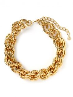 I would like this jn silver. Statement Jewelry, Gold Jewelry, Jewellery, Gold Chain Link Necklace, Gold Chains, Women's Accessories, Trendy Outfits, Fashion Beauty, Bling