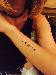 Tattoo Roman numerals wrist