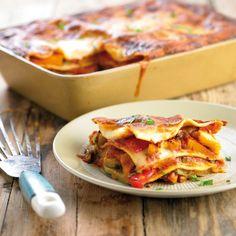 Roasted Vegetable Lasagne | Tatua Foods Roasted Vegetable Lasagne, Roasted Vegetables, Cheese Sauce, Brisket, Tasty Dishes, Sauce Recipes, Lasagna, Dinner Recipes, Lasagne