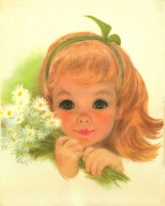 Vintage Retro Hippie 1960s Art Print by Artist Frances Hook Northern Charmin Sweet Little Girls. $9.50, via Etsy.