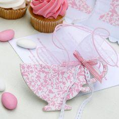 Alice in Wonderland favors- Baptism favors -20pcs Tea Cup bombonieres-baby girl shower-baby shower-christening favors-Orthodox Greek Baptism