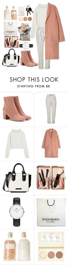 """▫"" by liberian ❤ liked on Polyvore featuring Gianvito Rossi, Topshop, Haider Ackermann, Acne Studios, Kendall + Kylie, Bobbi Brown Cosmetics, Daniel Wellington, Yves Saint Laurent, Mullein & Sparrow and River Island"