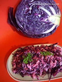Uwielbiam gotować: Surówka z czerwonej kapusty Healthy Salads, Healthy Life, Healthy Recipes, Healthy Food, Anniversary Dinner, Appetizer Salads, Chicken Stir Fry, Polish Recipes, Polish Food
