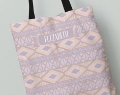 Personalized Tote Bag   Lilac Dream Diamonds Tote Bag   Great Gift Idea    All Over Print Tote Bag   Canvas Tote Bag