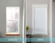 Transform a boring ol' window into a beautiful TRIMMED one!!  It's amazing what a few pieces of wood and paint can do... www.makeit-loveit.com