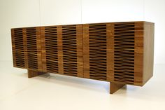 Credenza.  Love the combination of woods
