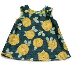 Reversible dress(fish n Flora)6-12 months