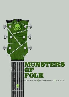 Monsters of Folk - gig poster - Dan Shearn