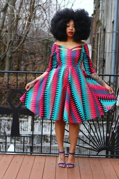 Ankara Product of the Day: Zariah African Print Dress by Tribal Groove African Dresses For Women, African Attire, African Fashion Dresses, African Wear, African Women, Ankara Fashion, African Shirts, Ghanaian Fashion, African Clothes
