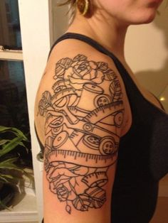 sewing tattoo, I'd put some color