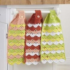 free citrus crochet towel pattern found at Willow Yarns