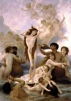 Naissance de Venus William Adolphe Bouguereau art for sale at Toperfect gallery. Buy the Naissance de Venus William Adolphe Bouguereau oil painting in Factory Price. All Paintings are Satisfaction Guaranteed William Adolphe Bouguereau, The Birth Of Venus, Illustration Art, Illustrations, Photocollage, Pre Raphaelite, Oil Painting Reproductions, Arte Pop, Oeuvre D'art