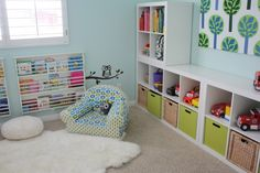 Chic and Cool Playroom Interior Design with White Color - Interior Design
