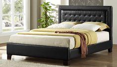 Homelegance Landon Full Platform Bed in Black 5787F-1