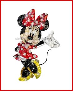 Minnie Mouse Wall Art Button Art Mickey Mouse www.etsy.com/listing/504093184/minnie-mouse-art-button-art-minnie-mouse
