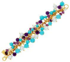 4dd78b3b1 elizabeth taylor blue and purple cluster bead bracelet Elizabeth Taylor  Jewelry, Qvc, All That