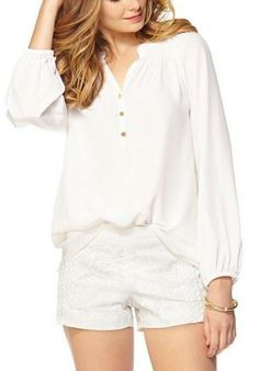 Lilly Pulitzer Elsa Top in Resort White