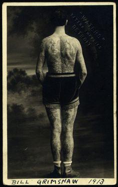 William Grimshaw 1913 via Percy Waters Tattoo Supply, Detroit MI