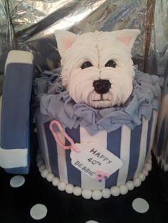 Westie Gift box Cake