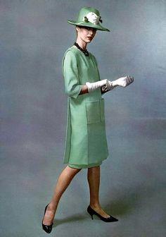 1963 vintage fashion in green