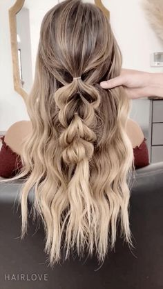 Easy Hairstyles For Long Hair, Teen Hairstyles, Braids For Long Hair, Hair Down With Braid, Halloween Hairstyles, Beach Hairstyles, School Hairstyles, Natural Hairstyles, Braid Half Up