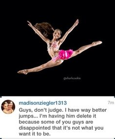 The reason that sharkcookie deleted this photo off his Instagram. Um… this is an great jump though? God, people are just looking for stupid reasons to hate on Maddie