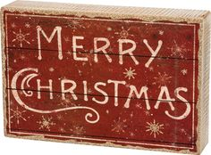 Item # 31878 | Box Sign - Merry Christmas | Primitives by Kathy