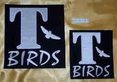 2-x-Iron-on-T-bird-patches-adults-childs-DIY-your-jacket-T-birds-50s-grease