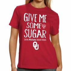 sugar bowl 2014 | Oklahoma Sooners 2014 Sugar Bowl Bound Ladies Give Me Some Sugar T ...