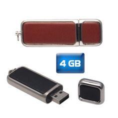 Memoria USB Deluxe Ejecutiva 4 GB.  Medidas: 6.3 cm x2.1 cm x 0.7 cm Material: Curpiel Técnica de impresión recomendada: Tampografía/Serigrafía. ¿Te gusta? Solicítalo al (01-999)9261006