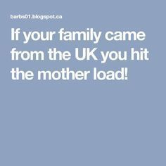If your family came from the UK you hit the mother load!//Includes details about instructions to the enumerates. Important to know.