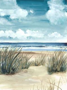 Enjoy the soothing solitude of the dunes and seashore from your cottage living room at any time with the Scene of Winter I Canvas Giclee.