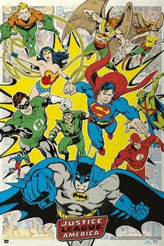 Dc Comic Superheroes Justice League Of America Dcorg Poster Print (24 x 36)