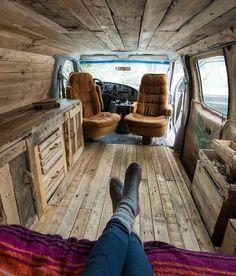 Interior Design Ideas For Camper Van Organization45 Mini Bus, Volkswagen Bus Interior, Campervan Interior, Bus Life, Cool Campers, System Furniture, Furniture Plans, Van Living, Living Room