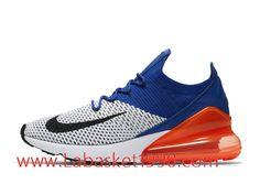 low priced 0de12 24c0b Nike Air Max 270 Flyknit Chaussures de Running Nike Pas Cher Pour Homme  Bleu Blanc Orange