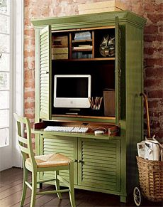 Superbe I Hadnu0027t Thought Of An Office Armoire. LOVE This One And The Color