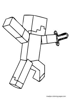 More Minecraft coloring pages on: maatjes-coloring-pages.com
