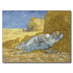 Siesta after Millet by Vincent Van Gogh Post Cards