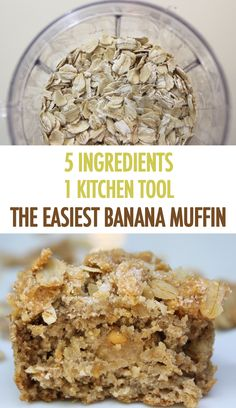 Banana Blender Muffins with Peanut Butter Crumbles