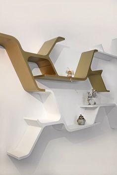 Lacquered bookcase SINAPSI by HORM.IT design Sebastian Errazuriz