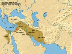 Map of the Assyrian Empire, from 746 to 609BC, in Asia Minor and Lower Egypt Nile Delta area. Contemporary to the Kushite Ethiopian dynasty of Egypt at Thebes.