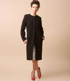 Spring weather, nice jacket! Spring17   YOKKO #black #jacket #spring17 #simple #smart #casual #elegant #fashion #yokko Spring Weather, Cold Weather, Smart Coat, Cool Jackets, Cold Day, Quilted Jacket, Smart Casual, Wool Coat