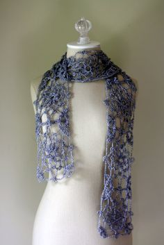 Lace Crocheted Scarf