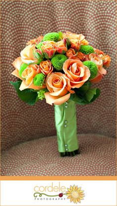 Orange and Green wedding Flowers