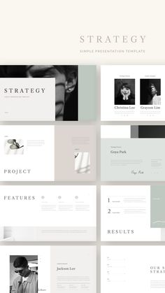 Strategy Presentation Template is a simple presentation to show your project & ideas. This is the right business portfolio presentation for everyone who wants Portfolio Presentation, Presentation Layout, Business Presentation, Presentation Templates, Web Design, Slide Design, Book Design, Layout Design, Brand Book